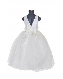 Vestido de Niña Modelo Elizabet Fajo de color