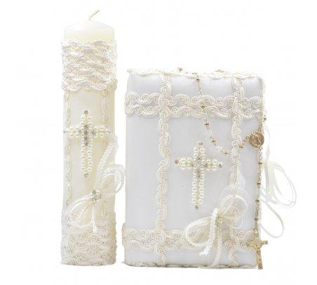 First Communion Kit Model Pearl Cross
